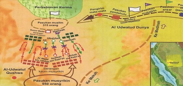 Image result for lokasi perang badar